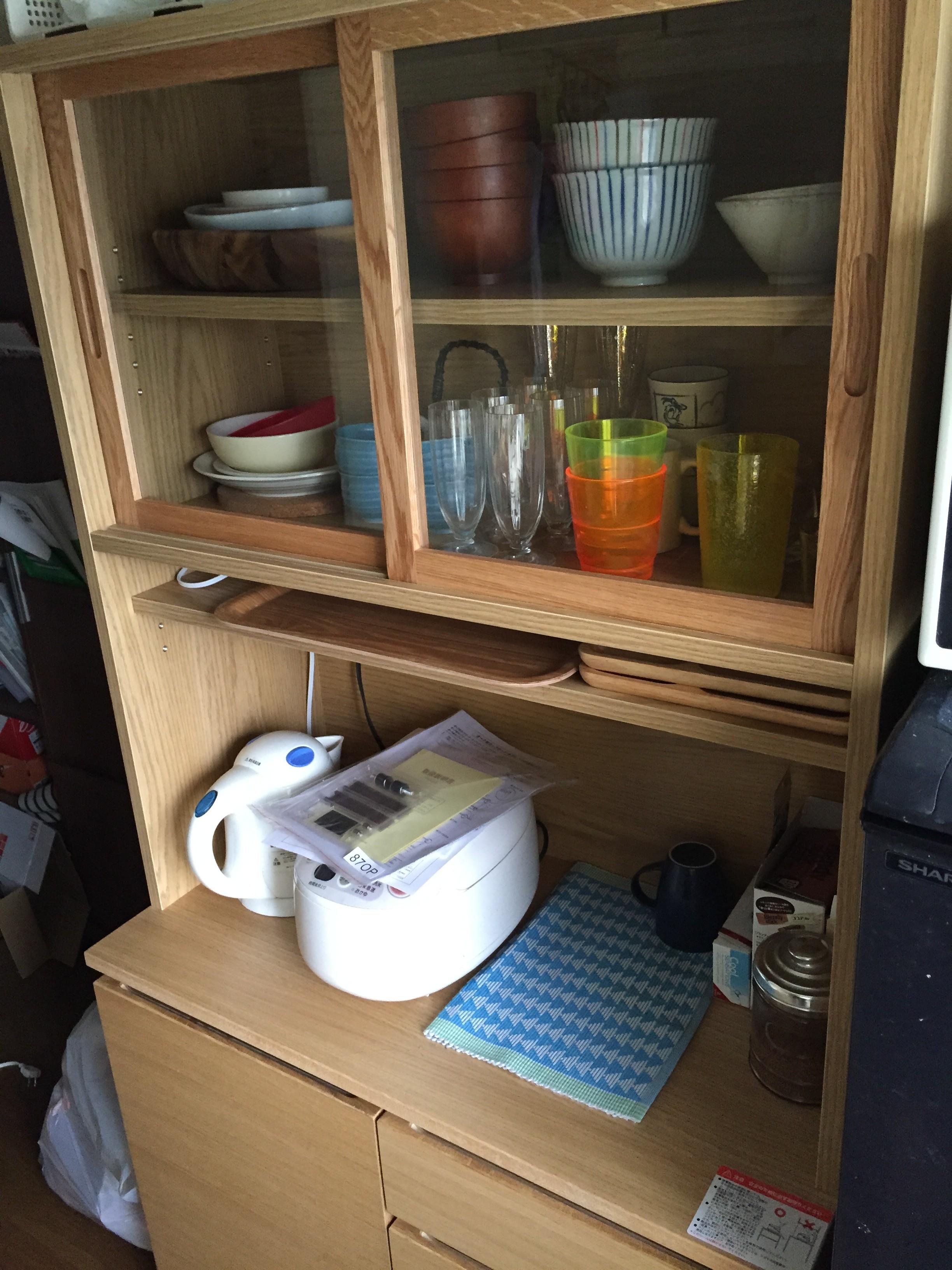 【美品】 無印良品 オーク材 カップボード 食器棚 参考新品価格: