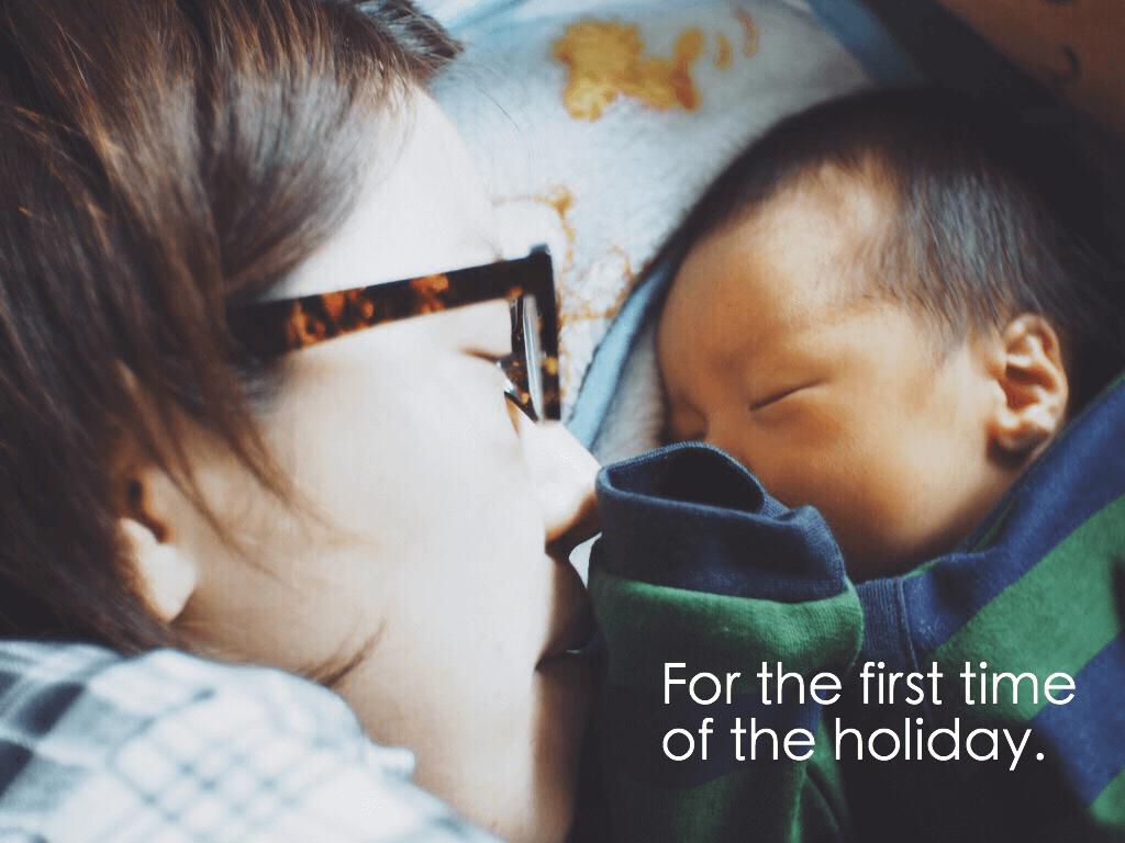君が生まれてから初めて「家族」で過ごす休日