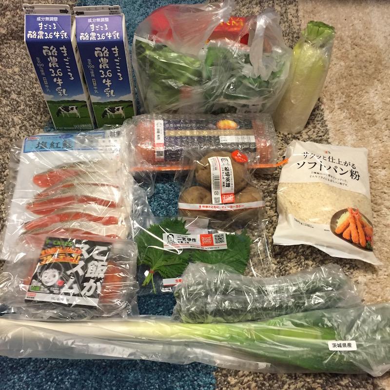 注文した商品を並べてみました。