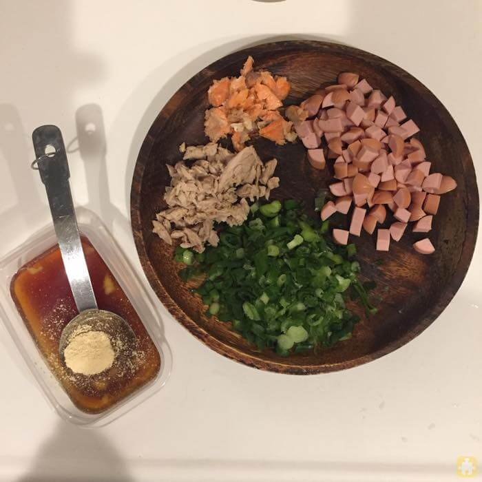 炊飯器で作る簡単チャーハン材料