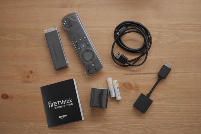 Amazon fire TV stickの同梱品
